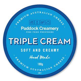 Paddock Creamery Triple Cream Brie 180Gm