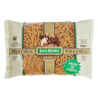 Pasta Spirals Wholemeal 500Gm San Remo