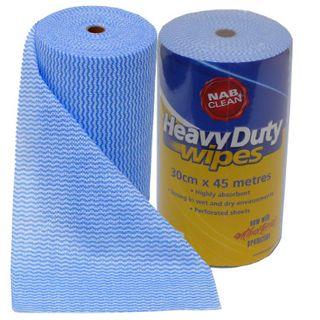 Heavy Duty Wipes 30Cmx50Cm Blue X 6 Rolls Nab Carton