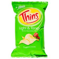 Chips Light & Tangy 45Gx18 Thins