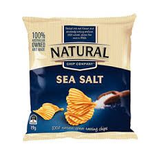 Chips Sea Salt 19Gx24 Natural Chip Company