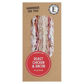 Sandwich Rye Roast Chicken Bacon 12 X 190G