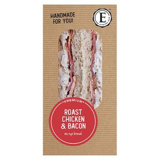 SANDWICH RYE ROAST CHICKEN BACON 12 X 190G