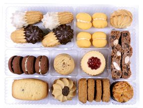 COOKIE CATERING TRAY 6X35 PCS CHARLIES