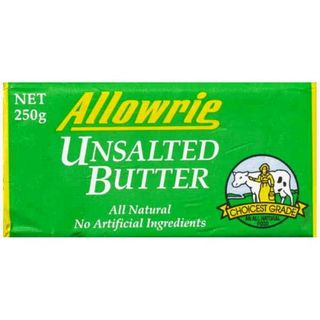BUTTER UNSALTED 250GM ALLOWRIE