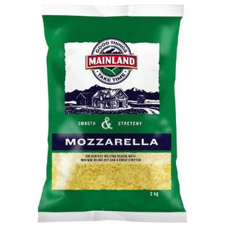 MOZZARELLA SHREDDED CHEESE 2KG MAINLAND
