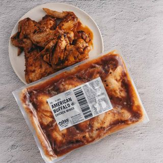 Chicken Wings Cooked American Buffalo Bbq 1Kg