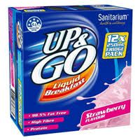 UP & GO STRAWBERRY MILK 12X250 ML