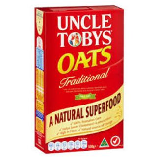 ROLLED OATS UNCLE TOBYS TRADITIONAL 1KG