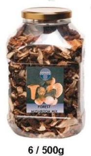 MUSHROOMS DRIED GOURMET/FOREST MIX 500G