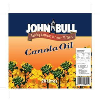 Oil Canola 20Ltr Jerrycan John Bull