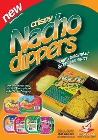 NACHO DIPPINS BOLOGNESE & CHEESE 20X160G ALLIED CHEF