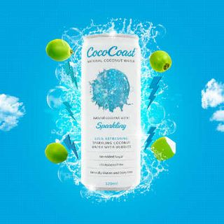 Water Sparkling Coconut Can 24 X 500Ml