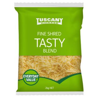 CHEESE TASTY FINE SHREDDED 2KG TUSCANY