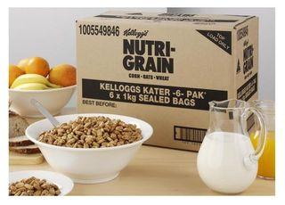 CEREAL NUTRI GRAIN 6X1KG CTN KELLOGGS