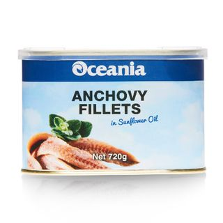 Anchovy Fillets In Sunflower Oil 720G Oceania