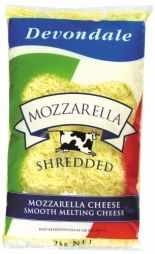 MOZZARELLA SHREDDED CHEESE 2KG DEVONDALE