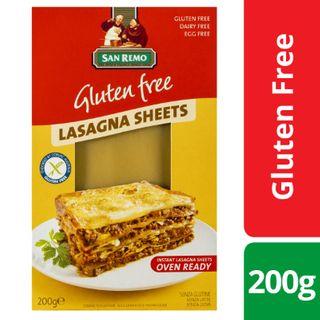 San Remo Lasagne Sheet Gluten Free 200Gm