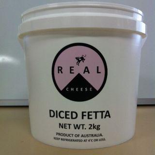 Feta Cubed Greek Style 2Kg Real Dairy