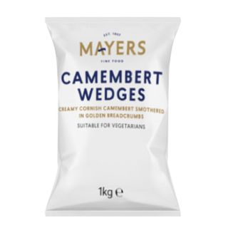 Camembert Wedges Crumbed 1Kg Mayers