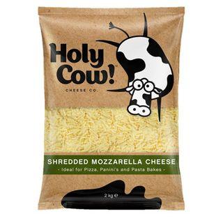 Mozzarella Shredded 2Kg Holy Cow
