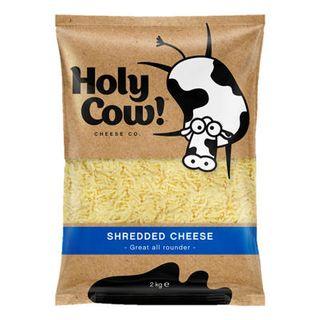 Cheddar Shredded 2Kg Holy Cow