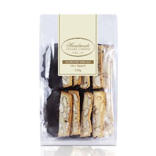 Biscotti Almond Bread Choc Dipped 150gx12 Cesare