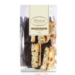 Biscotti Choc Dip Hazelnut & Apricot 150g Cesare
