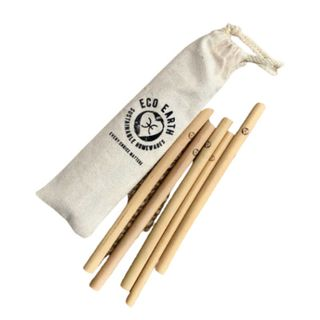 Bamboo Straws 5Pk W/Cleaner