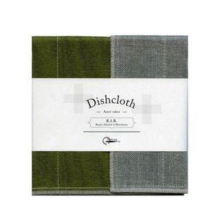 NAWRAP RIB DISHCLOTH 35X35CM-MOSS GREEN