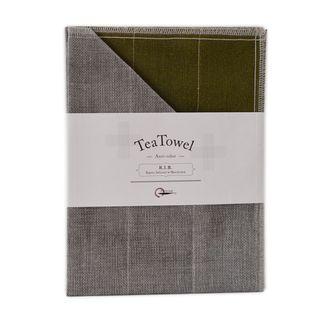 NAWRAP RIB TEA TOWEL 35X70CM-MOSS GREEN