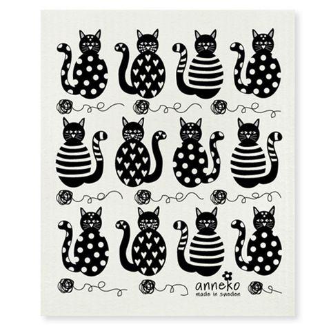 FLORENCE  DISH CLOTH - CATS