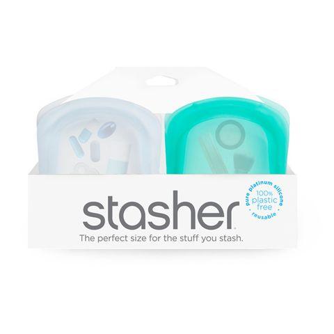 STASHER POCKET 2PK-CLEAR + AQUA