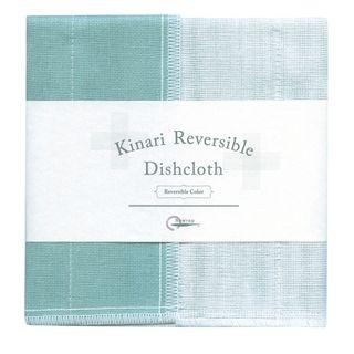 NAWRAP KINARI DISHCLOTH 35X35CM-WHT&TURQ