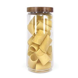 DISHY GLASS JAR WITH ACACIA LID 1L