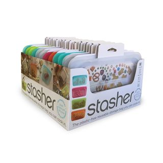 STASHER SNACK BAG CDU 12 PK