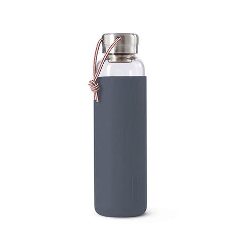 BLACK+BLUM GLASS WATER BOTTLE 600ML-SLATE
