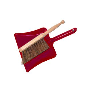 FLORENCE KIDS DUSTPAN SET WITH BRUSH-RED