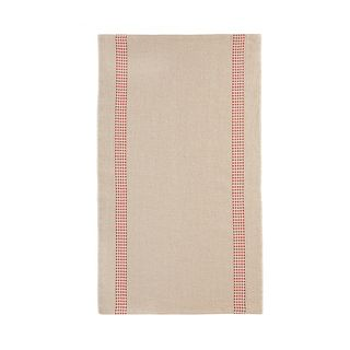 FLORENCE TEA TOWEL  52X70 LINEN 100%  -VICHY RED