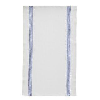 FLORENCE TEA TOWEL  52X70 LINEN 100%  -LUSTUCRU WH/BLU