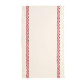 FLORENCE TEA TOWEL  52X70 LINEN 100%  -LUSTUCRU WH/RED
