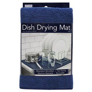 KITCHEN BASICS DISH DRY MAT - NAVY