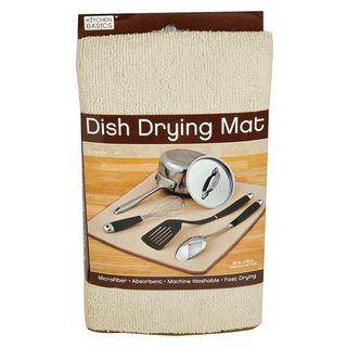 KITCHEN BASICS DISH DRY MAT CREAM