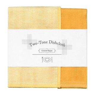 NAWRAP 2 TONE DISHCLOTH-YELLOW & TANGERINE