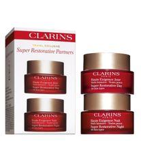 CLARINS SUPER RESTORATIVE DAY & NIGHT CREAMS TRAVEL PACK