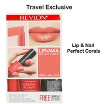 REVLON TRAVEL EXCLUSIVE LIP AND NAIL 3 PACKS
