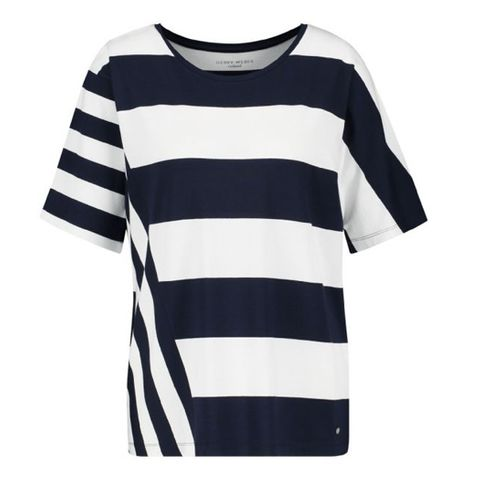 GERRY WEBER 97488 STRIPED TOP NAVY/WHITE
