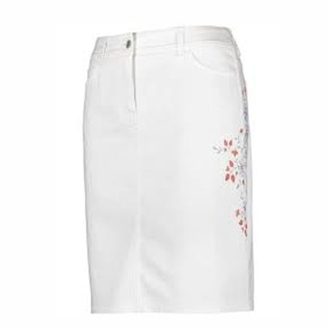 GERRY WEBER 610116 SKIRT WHITE