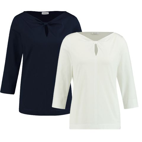 GERRY WEBER 170230 TOP WITH BOW NECKLINE