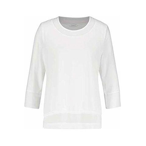 GERRY WEBER 170231 SHEER TOP WHITE